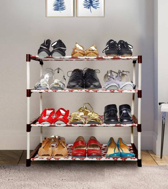 KROOH 1-Shelf Shoe Rack For Home And Kids Shoe Stand Letest Metal Organizer Plastic for home Collapsible Shoe Stand Metal, Plastic Collapsible Shoe Stand Plastic, Metal Shoe Stand