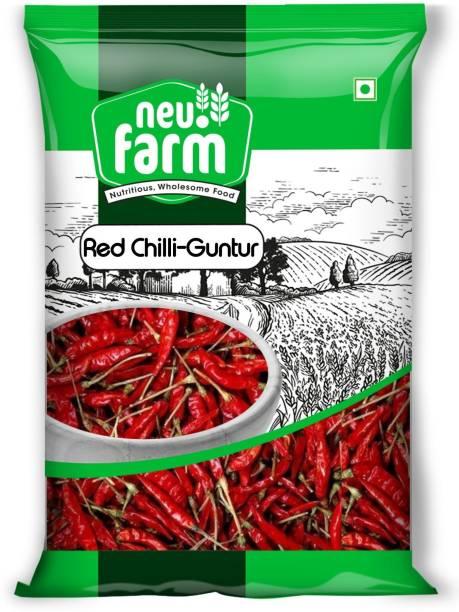 Neu.Farm Red Chilli - Lal Mirch Guntur with Stem - Natural & Premium
