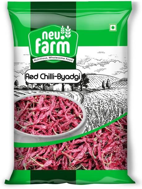 Neu.Farm Red Chilli - Lal Mirch Byadgi with Stem - Natural & Premium Quality