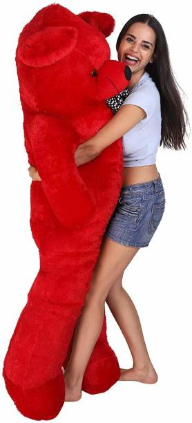 KidsBerry Cute Bootsy Red 90 Cm 3 feet Huggable And Loveable For Someone Special Teddy Bear  - 90 cm