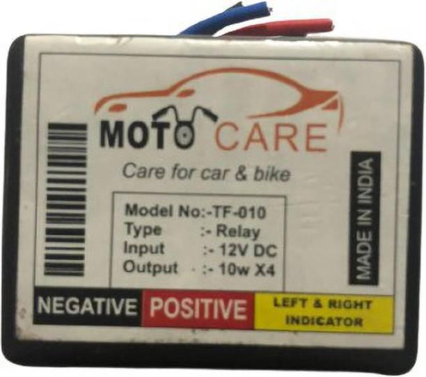 MOTO CARE Front, Rear Flasher Indicator Light for Universal For Bike R15, Classic Desert Storm, Pulsar 200NS, Ninja 250, GT650R, Pulsar 135 LS DTS-i, Activa, Duke RC 190, Duke 190, Apache RTR 180