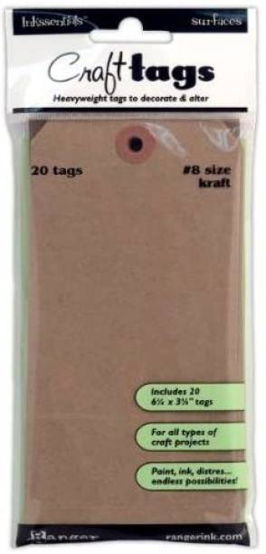 RANGER Isc-31864 Inkssentials Surfaces Kraft Tag No.8, , 20/Pack