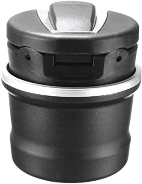carfrill Car Ashtray,Cylinder Car Cigarette Ashtray Detachable Storange Box for Cup Holder for Office Home and Car Black 1PCS Black, Silver Plastic, Stainless Steel Ashtray