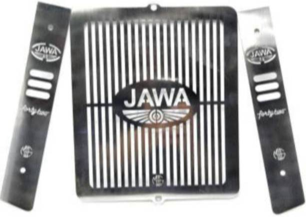 SELVIKE Stainless Steel Motorcycle Radiator Guard Protector Grill Only Fit in JAWA 42_1 Bike Crash Guard