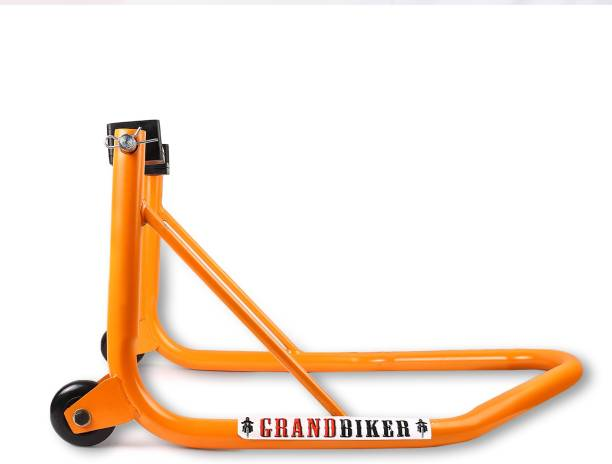 Grandbiker Rear Wheel Paddock Stand with Swing Arm Rest For All Bikes UNV Bike Storage Stand