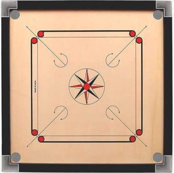 se sports HIGH GLOSS FINISHING WOODEN CARROM BOARD 26 INCH WITH COINE ,STIKER AND CARROM POWDER Carrom Board Board Game