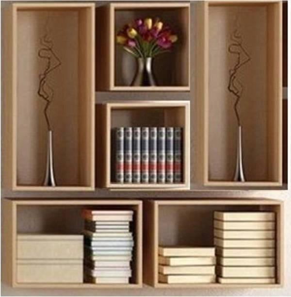 OnlineCraft Solid Wood Open Book Shelf