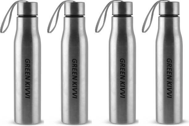green kivvi Stainless Steel Fridge & Sport Bottle For Cold Water, Boston 750mL (Pack Of 4) 750 ml Bottle