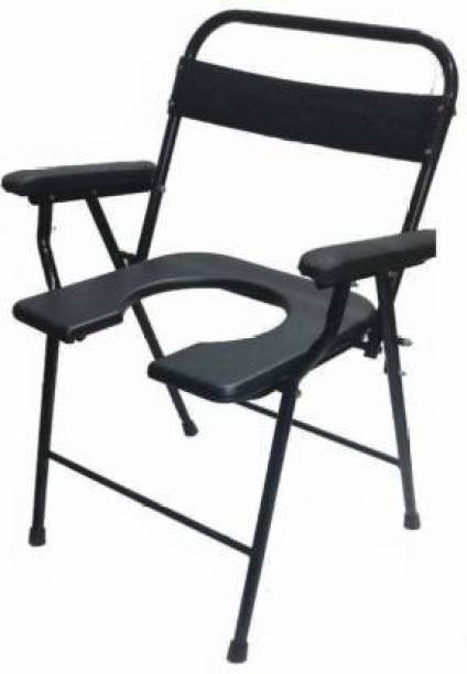 RADIANT TRADERS Foldable Commode & Showert Chairs For Adults (Black) Commode Chair