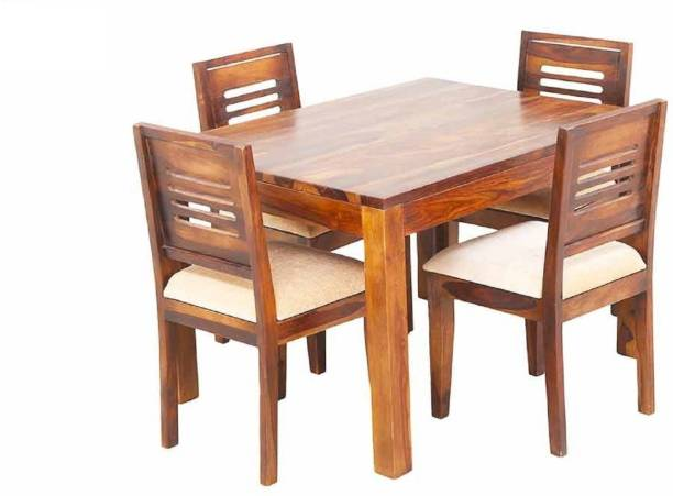 Suncrown Furniture Solid Wood 4 Seater Dining Set