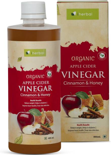 iherbal Apple Cider Vinegar Organic Raw Unfiltered (Honey AND Cinnamon) 500ML Vinegar