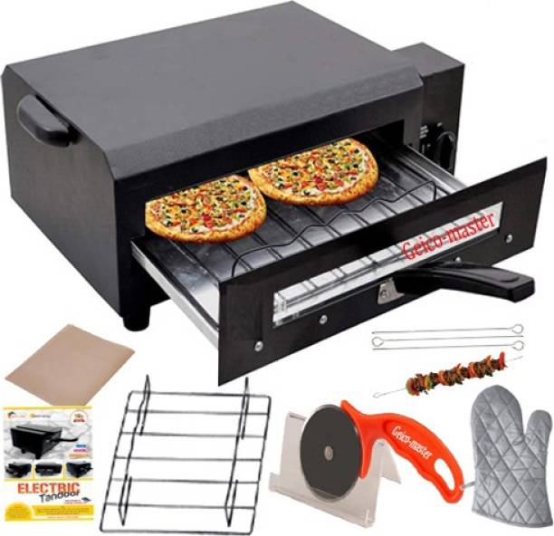 """Geico master """"21"""" Inches """"Big XXL Upper/Lower/Both & Regulator system electric tandoor geico-568 with free extra Accessories (bLACK) Electric Tandoor"""