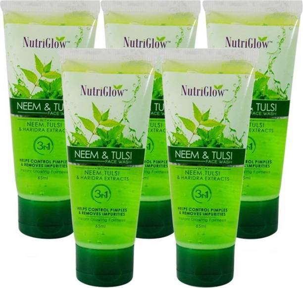 NutriGlow Neem & Tulsi  (Pack of 5) Face Wash
