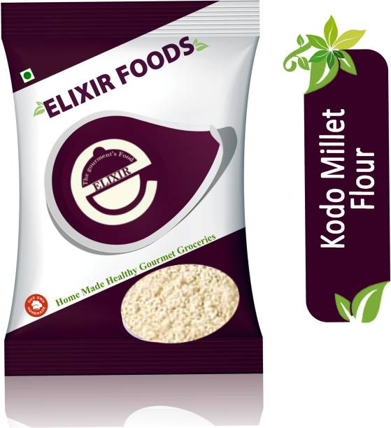 Elixir foods Kodo Millet Flour (Kodra Atta)   Anti Diabetic   Anti -Oxidant  Anti Obesity  Anti-cholesterol  Anti-hypertension