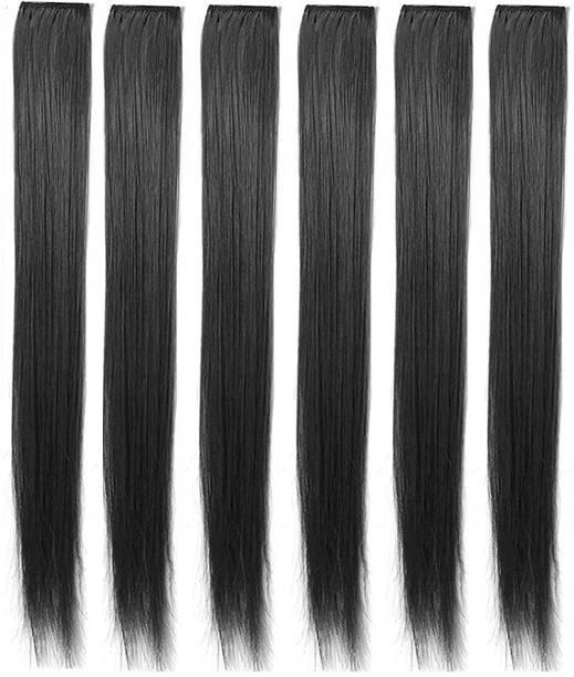 BELLA HARARO Synthetic  Extension Clip  Extensions Clip In / On Black  Extensions 10 pcs  Extension Hair Extension