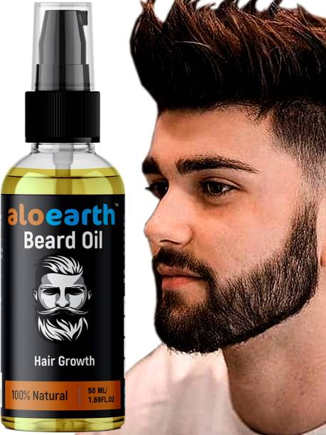 Aloearth Advanced Beard Growth Oil For Men (SLS & Parabean Free) Hair Oil (50 ml) Hair Oil