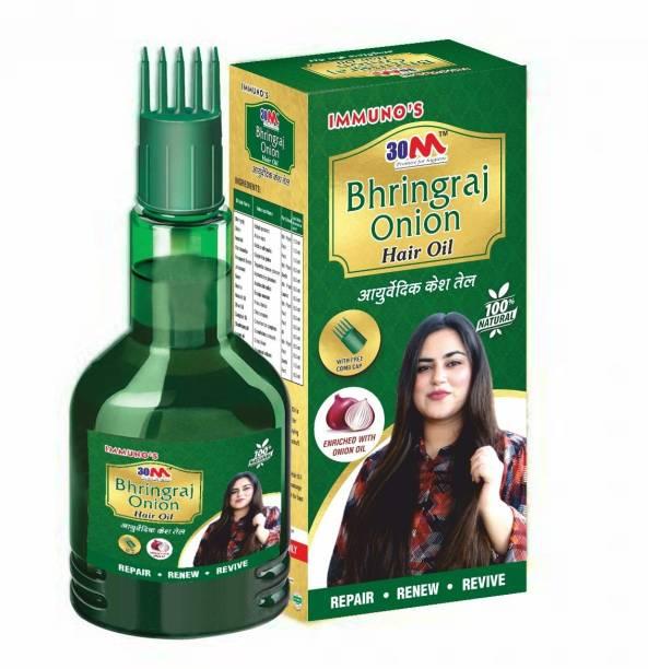 30M Ayurvedic Bhringraj Onion Hair Oil for Hair Growth and Hair Fall (1 x 100 ml) Hair Oil