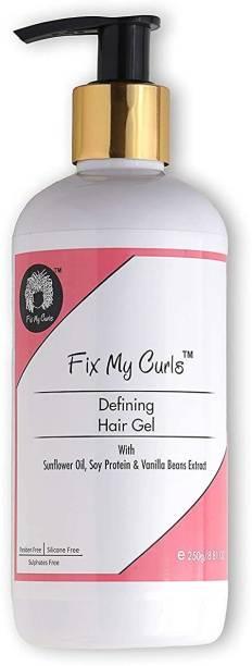 Fix My Curls Glaze Defining Hair Gel For Curly and Wavy Hair, 250g Hair Gel