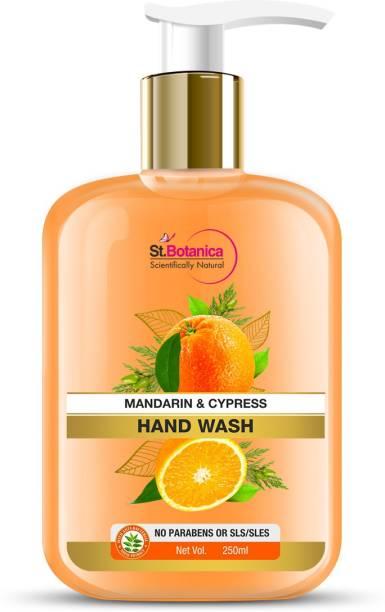 StBotanica Mandarin & Cypress Hand Wash, No Parabens, SLS, Hand Wash Bottle