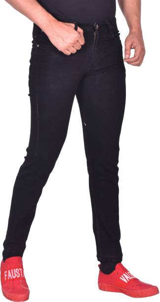 RASSO Regular Men Black Jeans