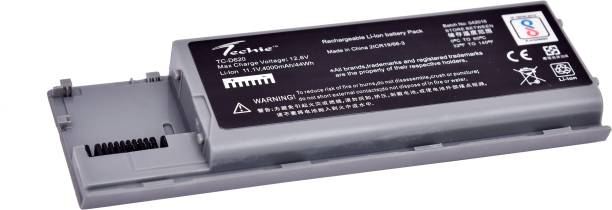 Techie Laptop Battery Compatible for Dell Latitude D620 D630 D640 PC764 TC030(Silver Color) 6 Cell Laptop Battery
