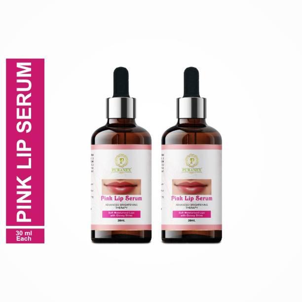 puranex Pink Lip Serum for Shine, Glossy, Soft With Moisturizer For Men & Women -30ml (PACK OF 2) 60ml