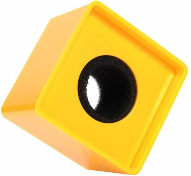 Black Dragon Portable Yellow ABS Injection Molding Square Cube Shaped Interview Mic Microphone Logo Flag Station microphone Flag