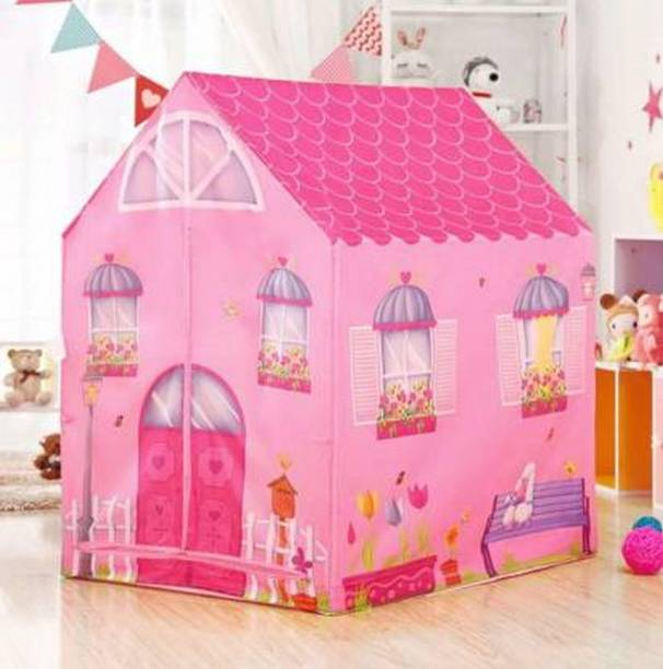 FEXMON Jumbo Size Extremely Light Weight , Water & Fire Proof Doll House Tent for Kids (Pink)