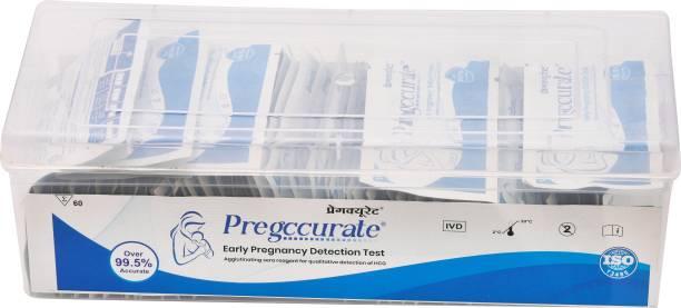 pregccurate preg card box 60 pc Pregnancy Test Kit