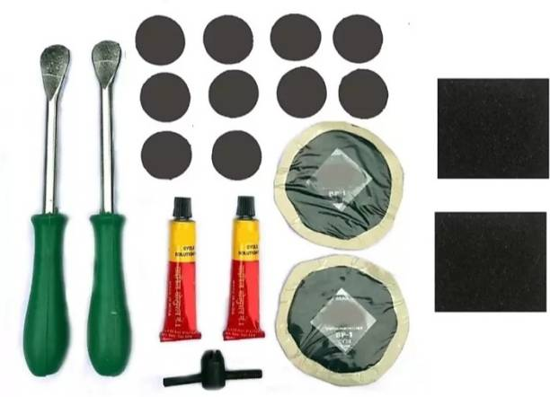 Oky Cycle puncture 12 Tubed Tyre Puncture Repair Kit