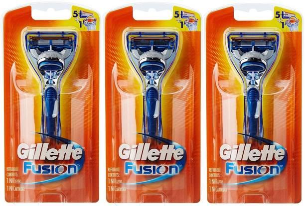 GILLETTE Fusion Razor Pack Of 3