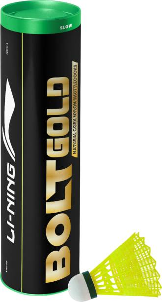 LI-NING Bolt Gold Nylon Shuttle  - Yellow