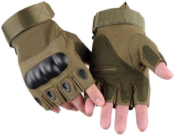 Alyan Tactical Half Finger Breathable Fabric Gloves for MotorBike Bycycle, Motorcycle Cycling Gloves