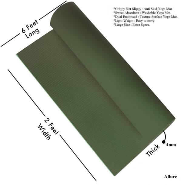 ALLURE Texture Design , Anti-skid Yoga Mat With Carry Bag 4 mm mm Yoga Mat