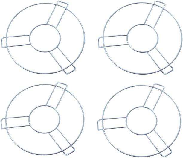 Productmine Stainless Steel Heat Resistant BIG Size Hot Pan / Pot Stand Mat Cooker Jali ,Table RingDIAMETER 17 CM- 4 PC Matt Trivet
