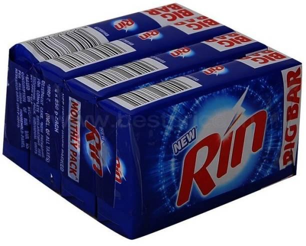 DPCOLLECTIONS Rin Detergent Bar 4 N (250 g Each) Detergent Bar