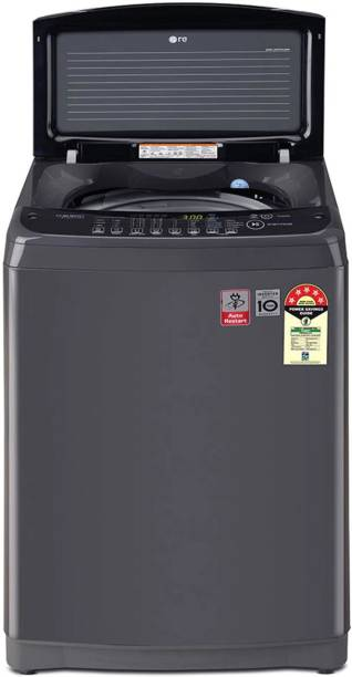 LG 8 kg Fully Automatic Top Load with In-built Heater Black
