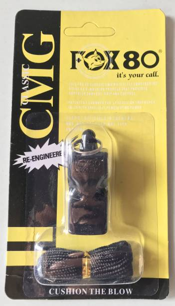 UE Ind Fox 80 CMG Whistle CANADA Made Classic Pealess Whistle with Cushioned Mouth Grip Pealess Whistle