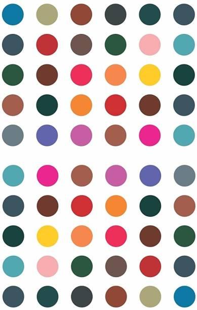 Vama Fashions Plain Round Multicolor Bindi Kumkum Big size for For ladies Stylish Bindi For Women latest design (Size 7mm ,Pack of 180 Bindis) Forehead Multicolor Bindis