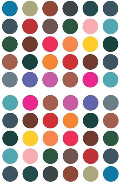Vama Fashions Plain multicolor round Big Bindis Sticker Kumkum Bindi for Women Ladies Stylish ( Size 8mm ,Pack of 180 Bindis ) Forehead Multicolor Bindis