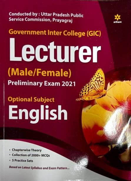 Uppsc Government Inter College (Gic) Lecturer Preliminary Exam 2021 English Book