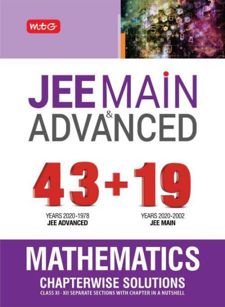 43+ 19 Years Chapterwise Solutions Maths for Jee (Adv + Main)