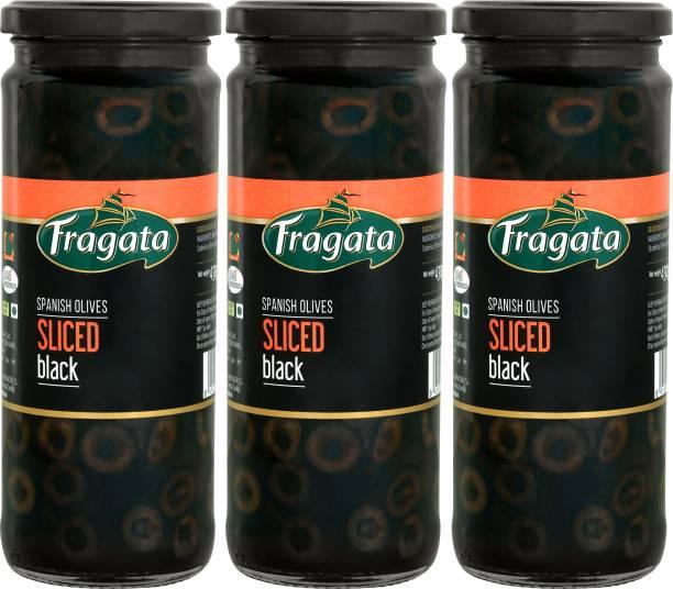 Fragata Spanish Olives Sliced Black (Ideal for Pizzas and Salads) Olives Olives