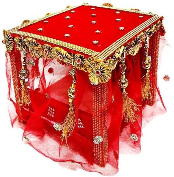 PAPU G NEW DESIGNER SAHI BED FOR THAKUR JI /LADDU GOPAL JI (SIZE 0 TO 6 NO.) Wooden Pooja Chowki