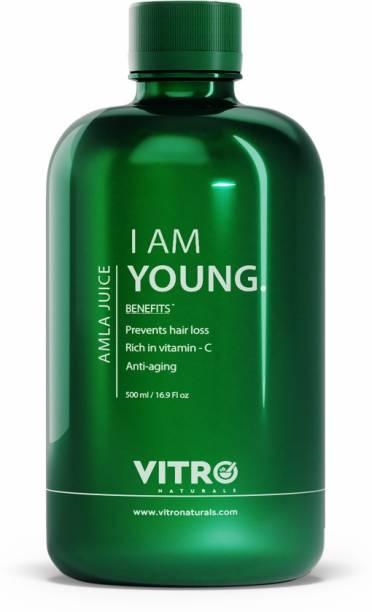 VITRO Amla Juice For good hair & skin Rich in vitamin C No added sugar I AM YOUNG, (Amla Candy Inside)