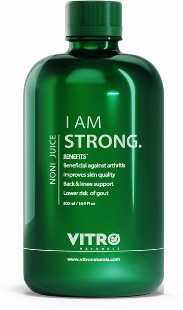 VITRO Noni Juice| Relieves joint pain| No added sugar| I AM STRONG, 500ml (Amla candy inside)