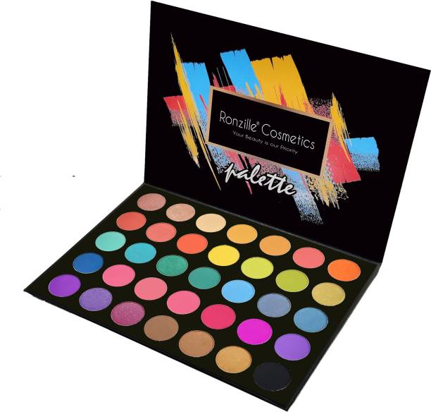 RONZILLE Eyeshadow Palette 35 Colors Mattes And Shimmers High Pigmented Color Board Palette Long Lasting Makeup Palette Blendable Professional Eye Shadow Make Up Eye Cosmetic 71 g