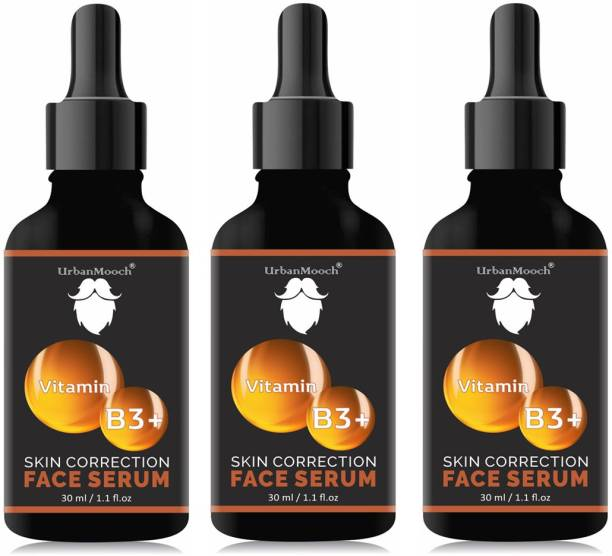 UrbanMooch Natural & Organic Vitamin B3 Serum - For Skin Whtening, Brightening & Anti Aging-30ML-Packof-3-Bottle-