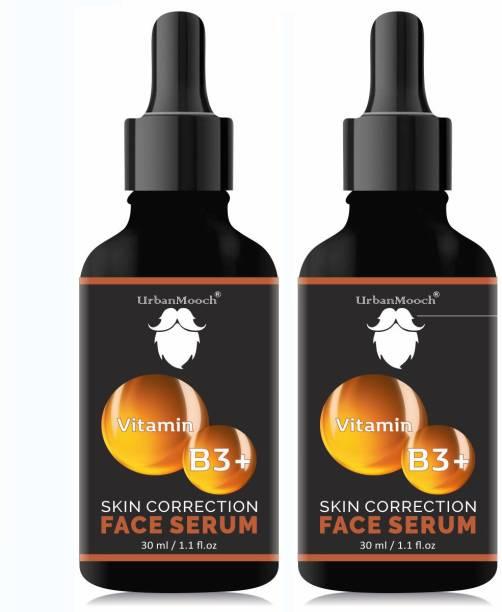 UrbanMooch Natural & Organic Vitamin B3 Serum - For Skin Whtening, Brightening & Anti Aging-30ML-Packof-2-Bottle-