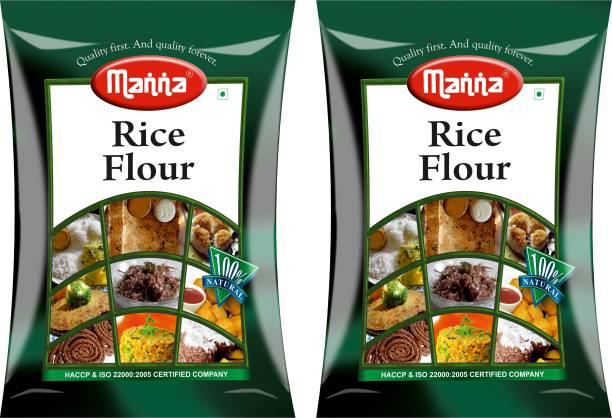Manna Rice Flour - 2kg (1kg x 2 Packs) | 100% Natural | Gluten Free | Rich in Carbohydrates & B Vitamins